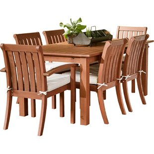 Rossi 7 Piece Dining Set With Cushions