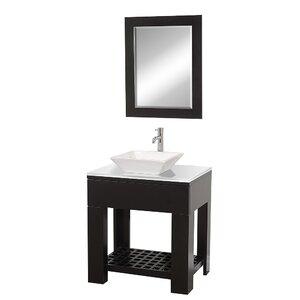 Zen II 30″ Single Bathroom Vanity Set with Mirror