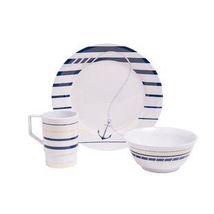 Ariya Melamine Gift 12 Piece Dinnerware Set Service for 4  sc 1 st  Wayfair & Coastal Dinnerware Sets You\u0027ll Love | Wayfair