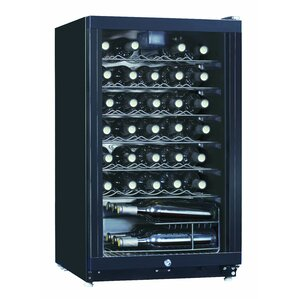 35 Bottle Midea Single Zone Freestanding Wine Cooler by Equator