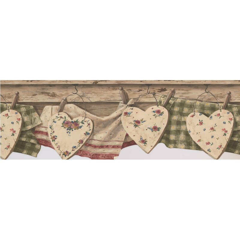 August Grove Bouvier Farmhouse Style Vintage Kitchen Clothes Drying On Line 8 L X 180 W Wallpaper Border Wayfair Ca