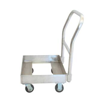 5837b86796f2 Mind Reader 330 lb. Capacity Foldable Push Cart Pallet Roller Hand ...