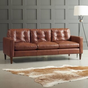Stupendous Down Filled Leather Sofa Wayfair Ca Home Remodeling Inspirations Gresiscottssportslandcom