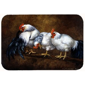 Jaiden Roosting Rooster And Chickens Kitchen/Bath Mat