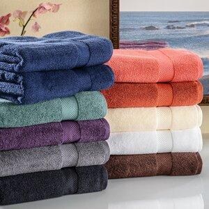 Clayton Zero Twist Bath Towel Set (Set of 2)