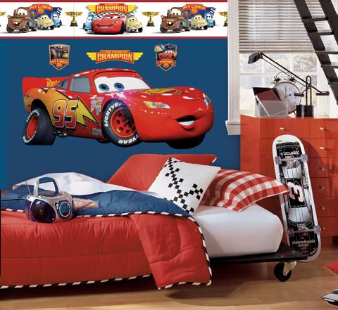 Amazing Disney Cars Lightning McQueen Room Makeover Wall Decal Part 17
