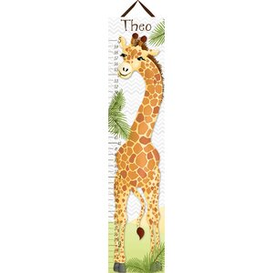 Giraffe Personalized Canvas Growth Chart