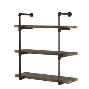 Kennard 3 Tier Pipe Wall Shelf