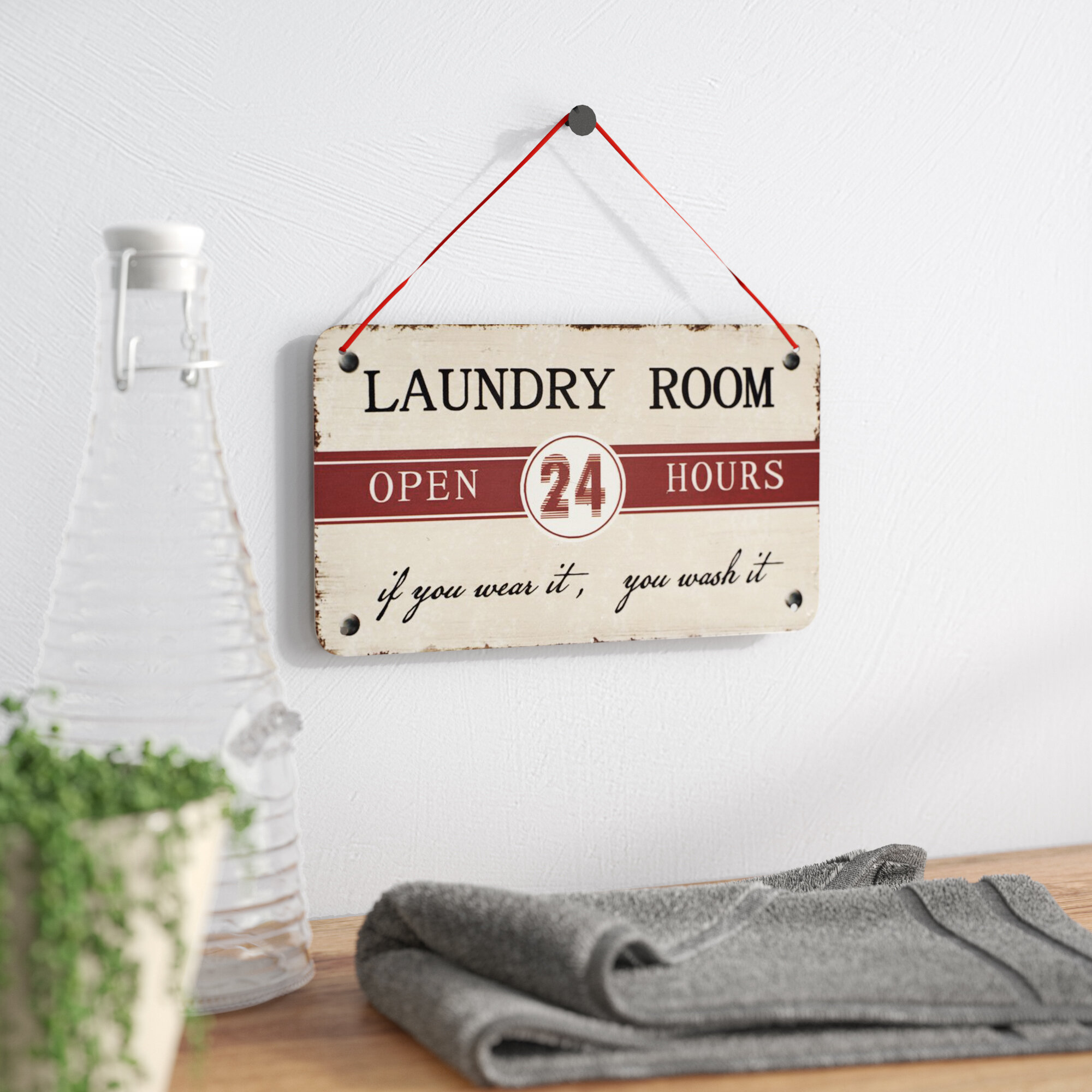 Winston Porter Laundry Room Antique Wisdom Sign Wall Décor Reviews Wayfair