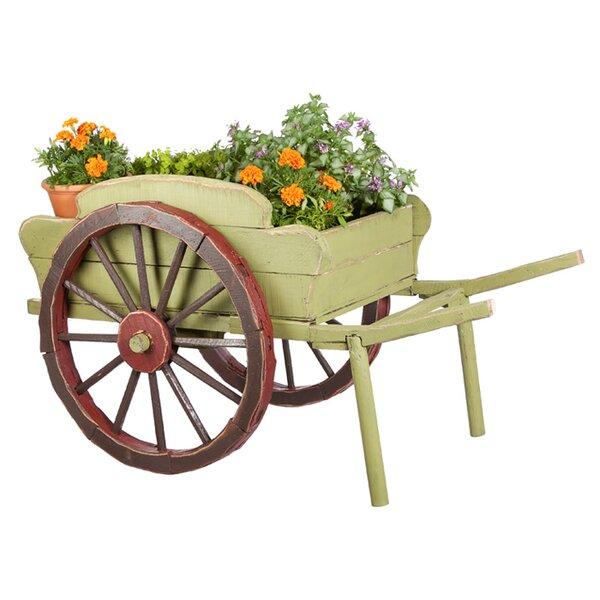 Wood Wheelbarrow: Evergreen Flag & Garden Wood Wheelbarrow Planter & Reviews