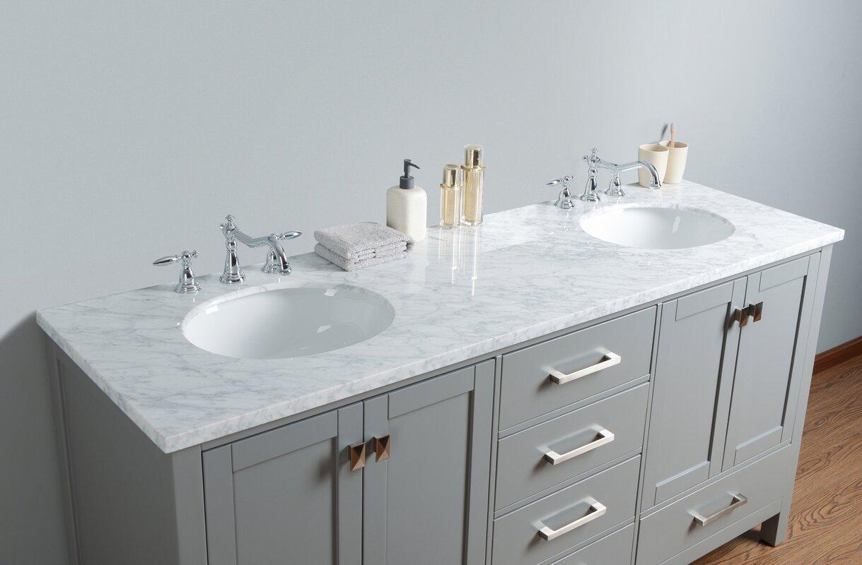 Ankney 72 Double Sink Bathroom Vanity Set
