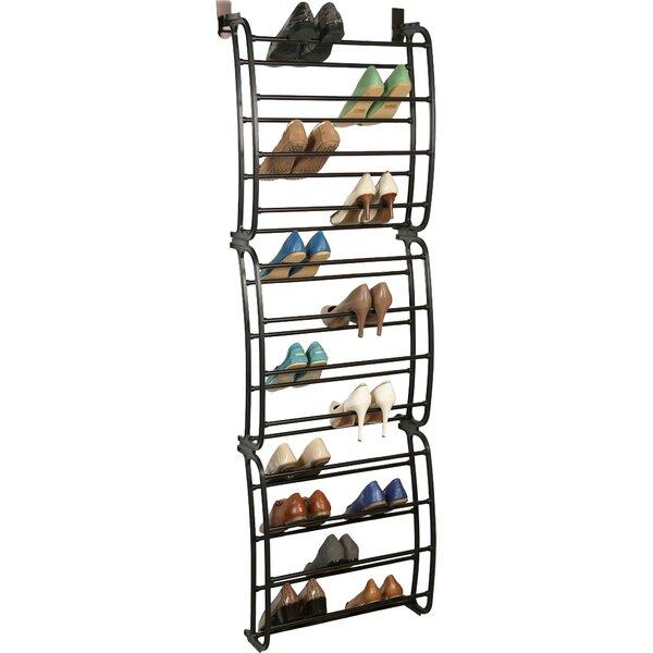 Richards Homewares 12 Tier 36 Pair Overdoor Shoe Organizer U0026 Reviews |  Wayfair