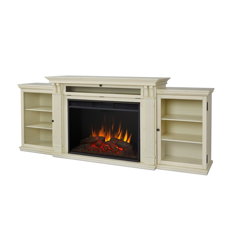 """Real Flame Grand Tracey 84"""" TV Stand with Fireplace"""