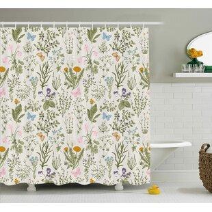 Menthe Herbs Flowers Single Shower Curtain