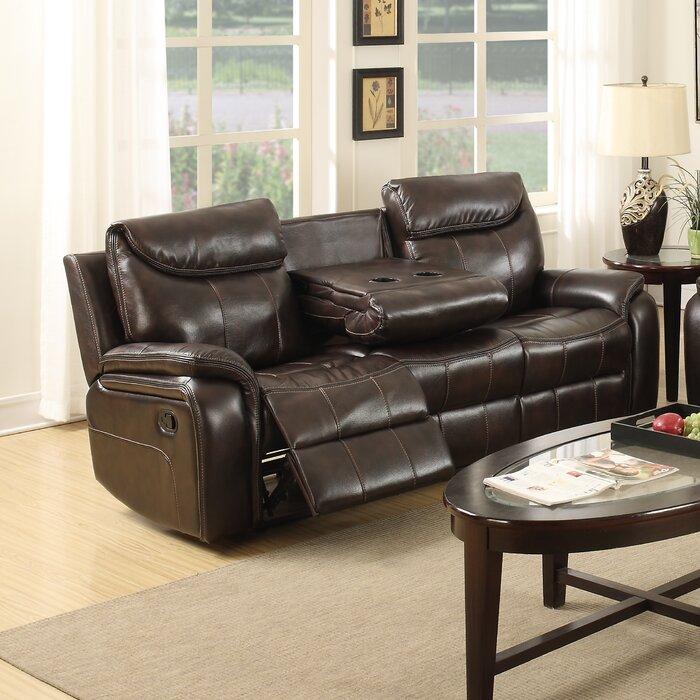 courtney leather reclining sofa
