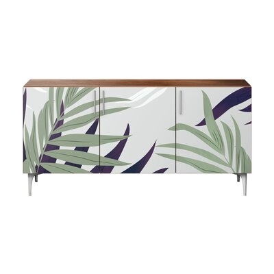 Bay Isle Home Robscott Sideboard Color (Base/Top): Walnut/Chrome