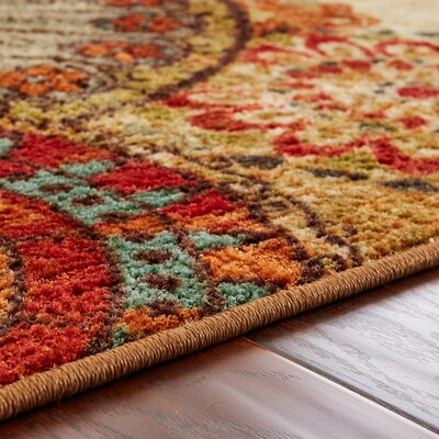 Bergen Caravan Medallion Beige Orange Area Rug Allmodern