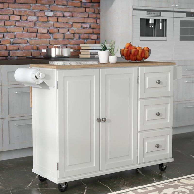 Kitchen Counters Montreal: Andover Mills Kuhnhenn Kitchen Island & Reviews