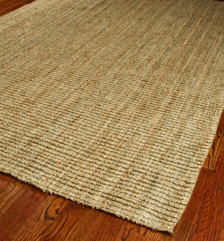 Dog Urine Jute Rug: Charlton Home Gaines Hand-Woven Natural Area Rug & Reviews