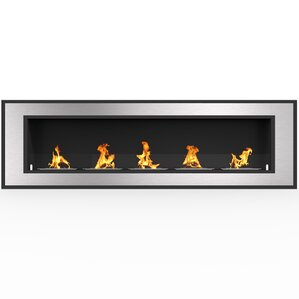 Maybelle Ventless Built-in Recessed Wall Mounted Bio-Ethanol Fireplace by Orren Ellis