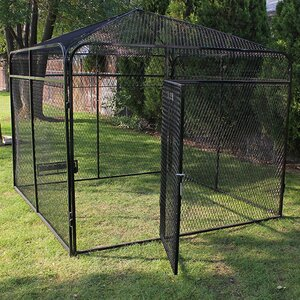 Expanded Metal Yard Kennel with Peaked Top