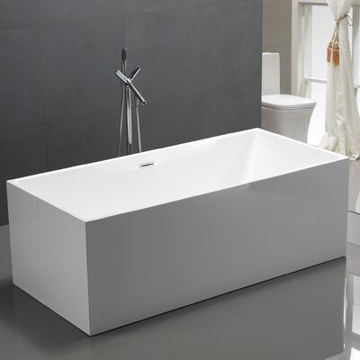 co socielle solid inch round freestanding surface alcove bowl bathtub
