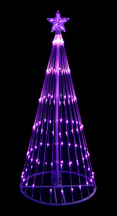 LB International 4' Light Show Cone Christmas Tree Lighted Yard Art Decoration | Wayfair