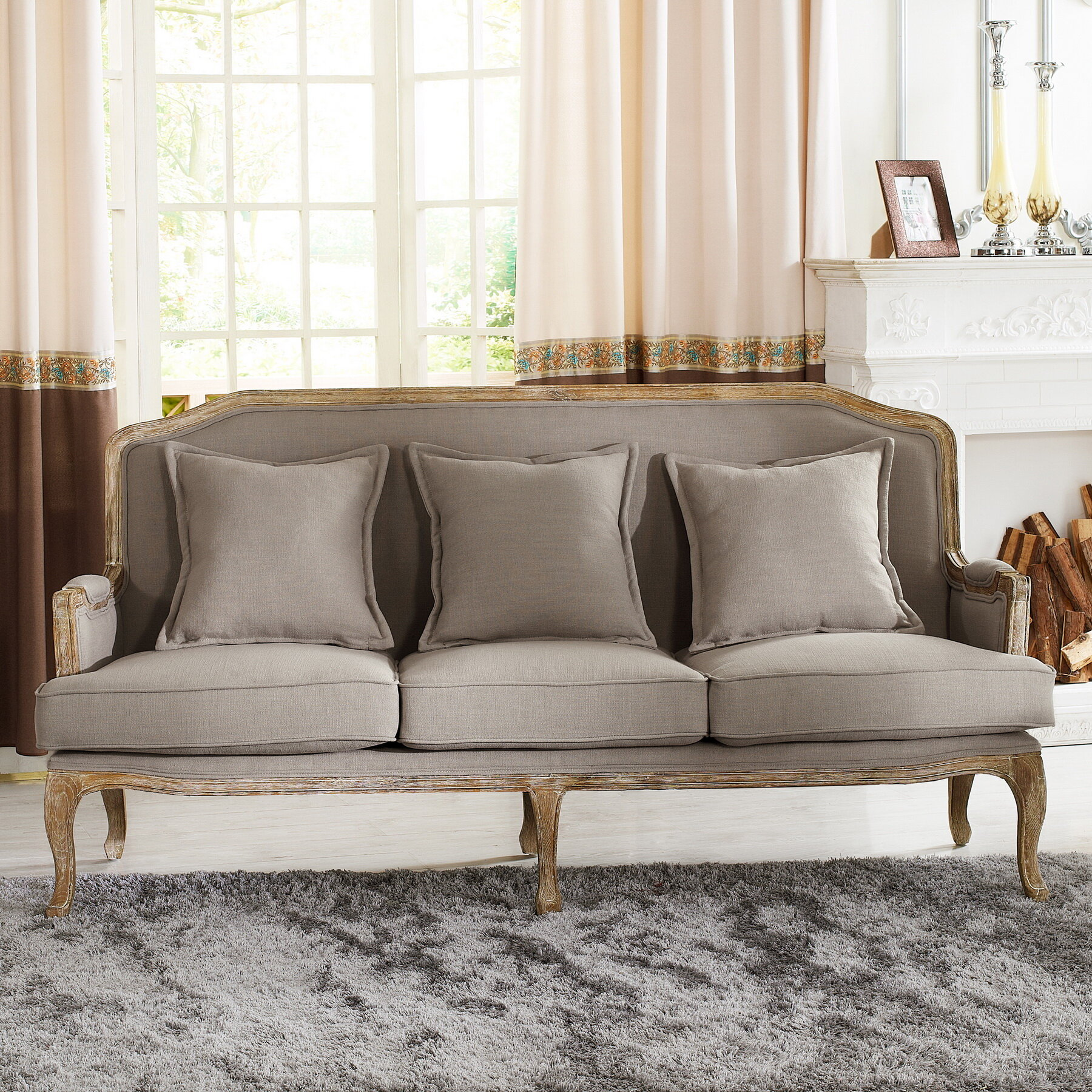 sofa kathy product nailhead chesterfield couch kuo home french country detail provence alaine