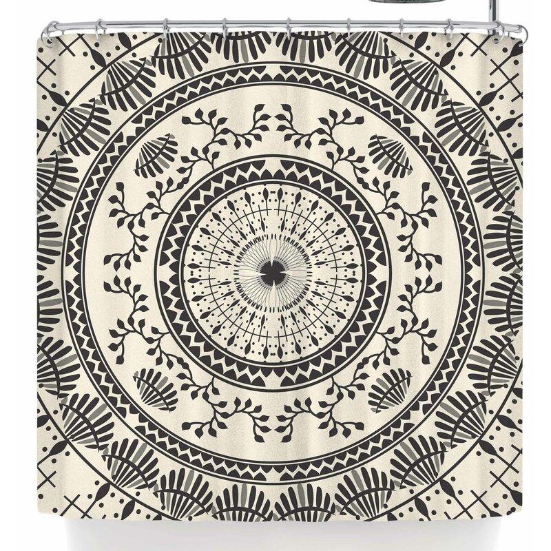 Famenxt Ethnic Mandala Shower Curtain