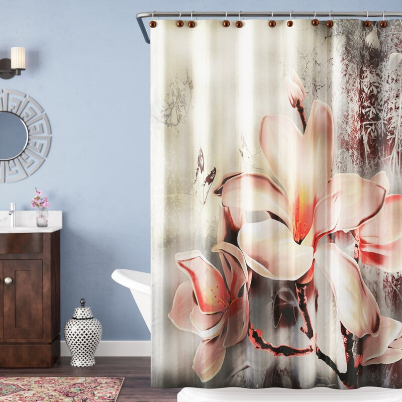 fc6ed2a120 Bloomsbury Market Caledonia Fancy Lily Single Shower Curtain & Reviews    Wayfair