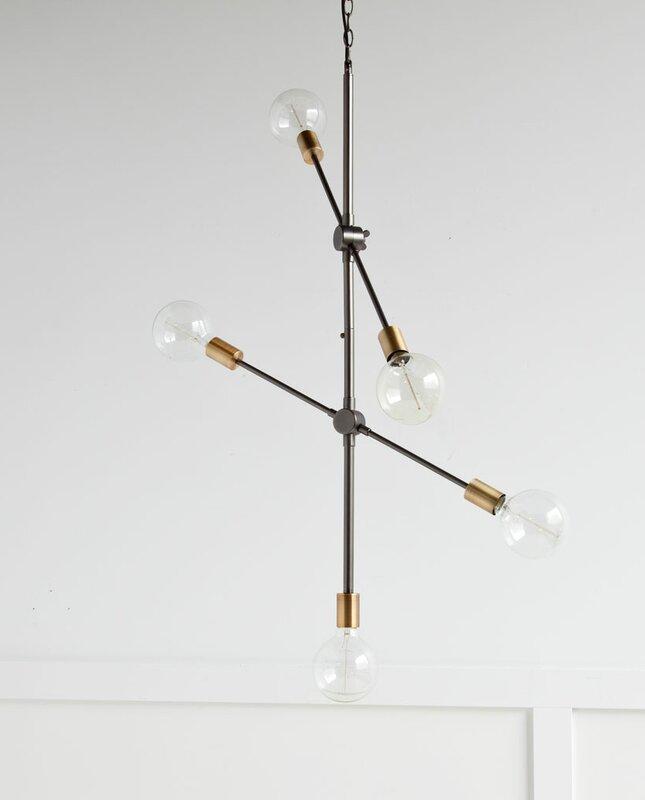 adrianne 5light sputnik chandelier