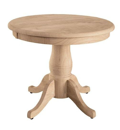 Incroyable Pedestal End Table