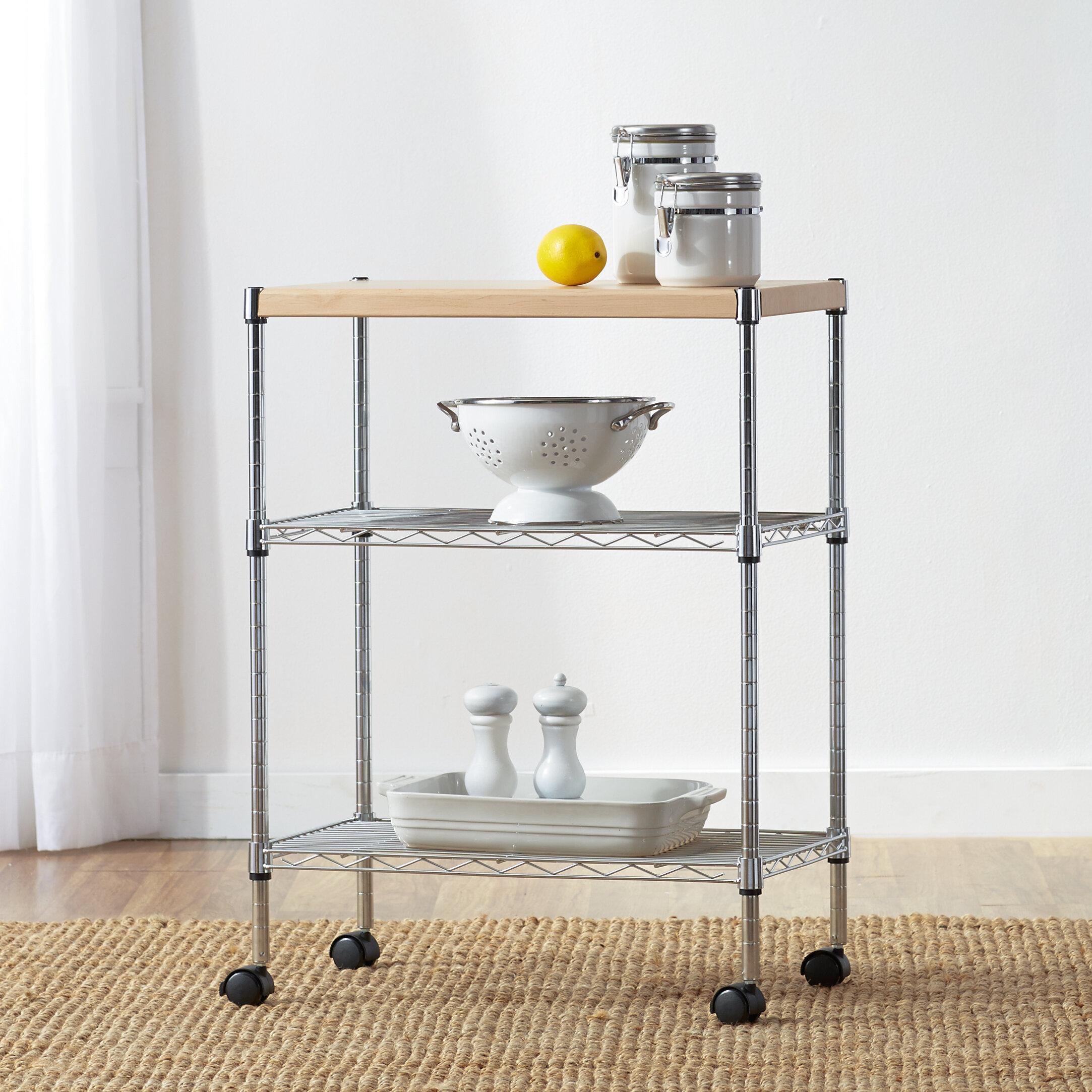 Wayfair Basics Adjule Kitchen Cart Reviews