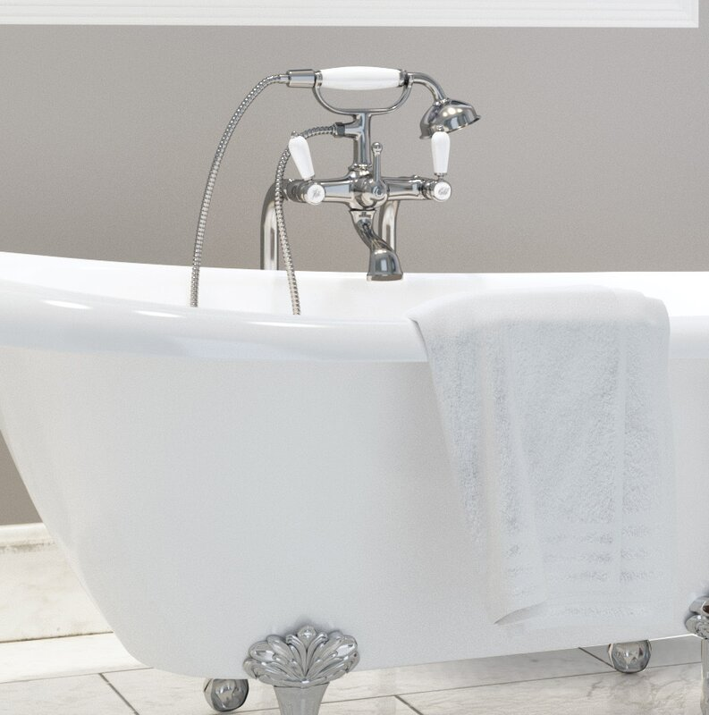 Ancona Classic Double Handle Floor Mounted Telephone Faucet with ...
