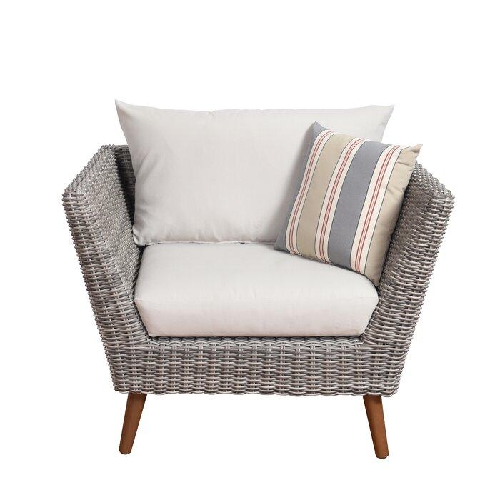 Newbury Eucalyptus Patio Arm Chair With Cushions