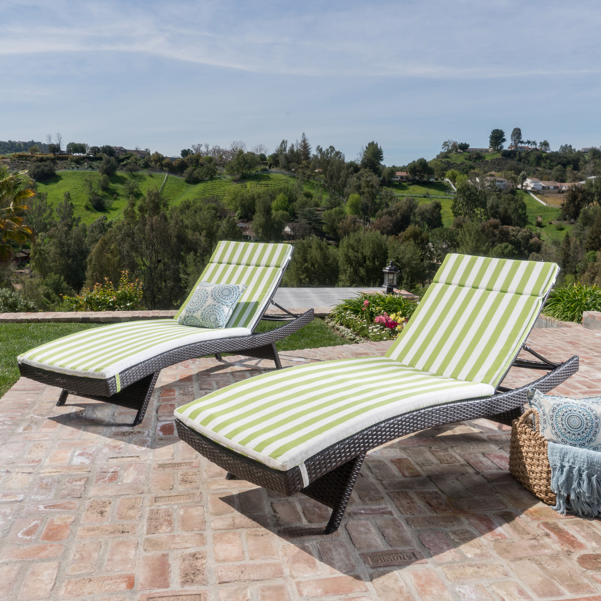 Similar patio chaise lounges below