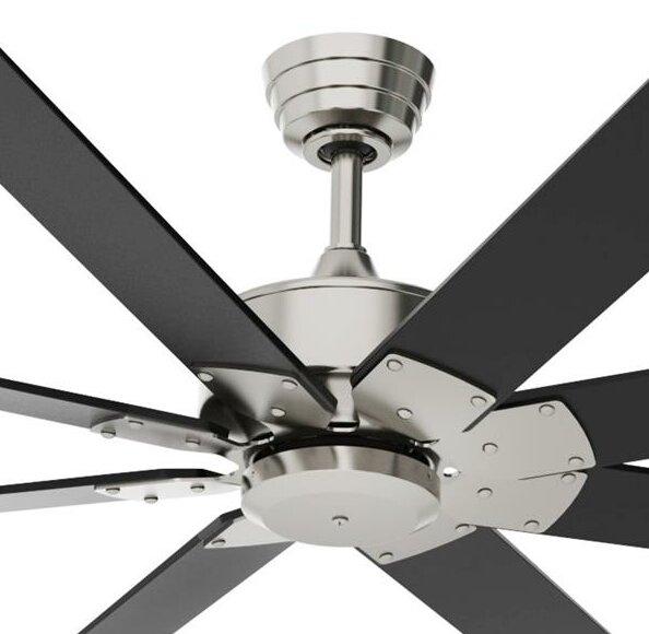 80 Levon Custom 8 Blade Led Ceiling Fan With Remote