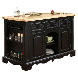 Fort Washington Kitchen Island With Stainless Steel Counter Top Joss Main
