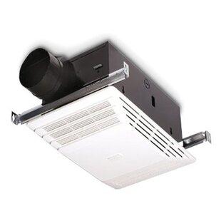 Bathroom fan light heater wayfair 70 cfm bathroom fan with heater aloadofball Images