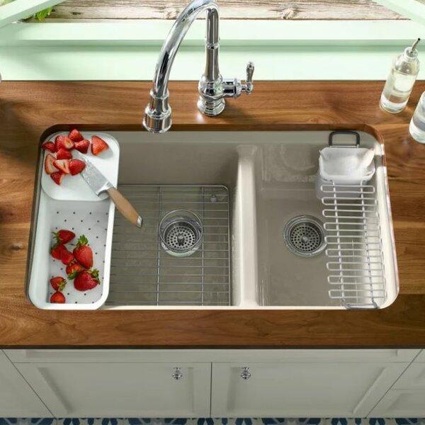"Kohler Double Bathroom Sink: Kohler Riverby 33"" X 22"" Double Basin Undermount Kitchen"