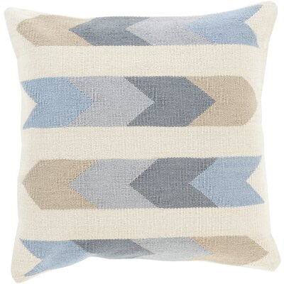 Turn on the Brights Lindel Cotton Throw Pillow Size: 18 H x 18 W x 0.25 D, Color: Neutral\Gray