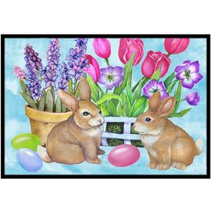 New Beginnings Easter Rabbit Doormat