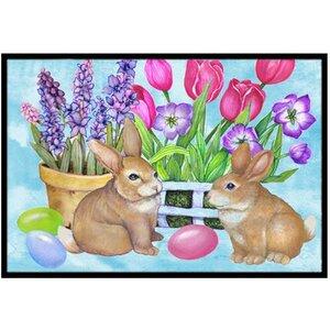 New Beginnings Easter Rabbit Doormat