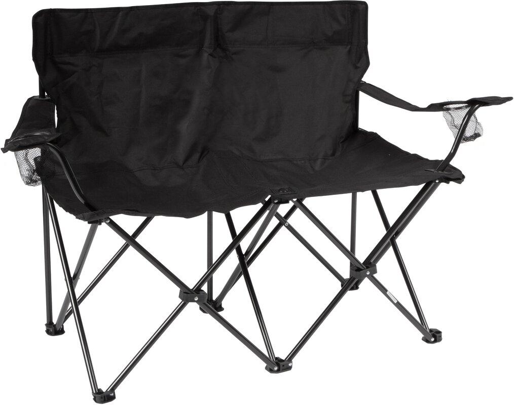 Trademark Innovations Loveseat Folding Camping Bench
