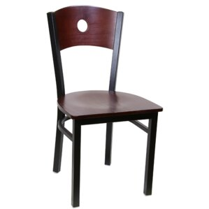 Metal Frame Solid Wood Dining Chair (Set of 2) by H&D Restaurant Supply, Inc.