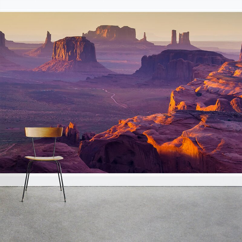 Wallums Wall Decor Red Rock Canyon Sunset 8 X 144 3 Piece Wall