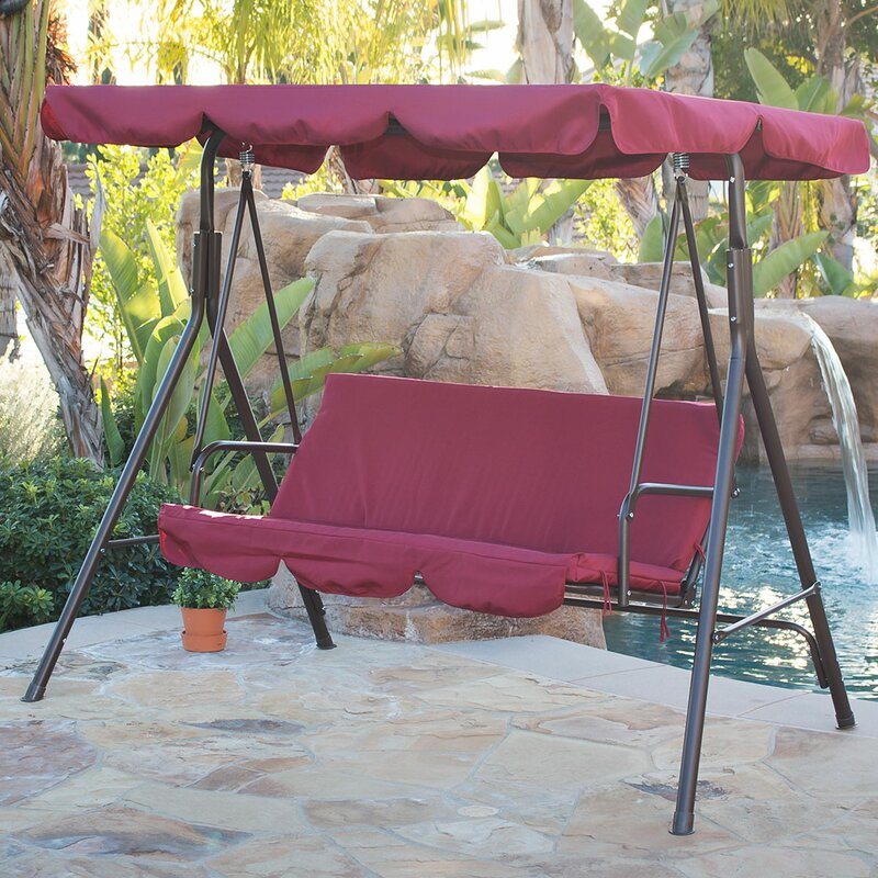 Belleze Canopy Porch Swing With Stand Amp Reviews Wayfair Ca