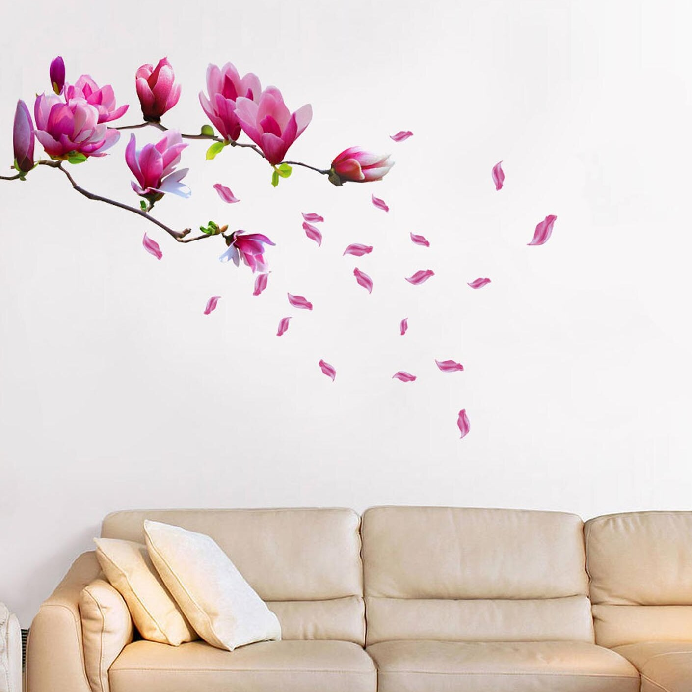 Walplus magnolia flower wall decal reviews wayfair mightylinksfo