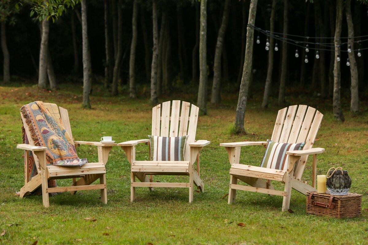Stebbins Solid Wood Adirondack Chair