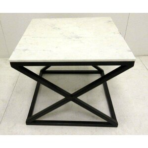 Raymond Marble End Table by Everly Quinn